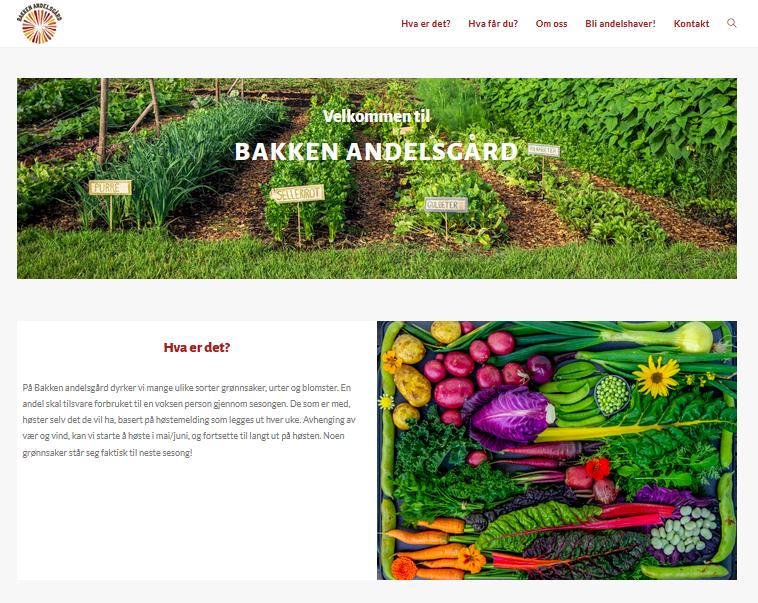 webpage Bakken Andelsgard